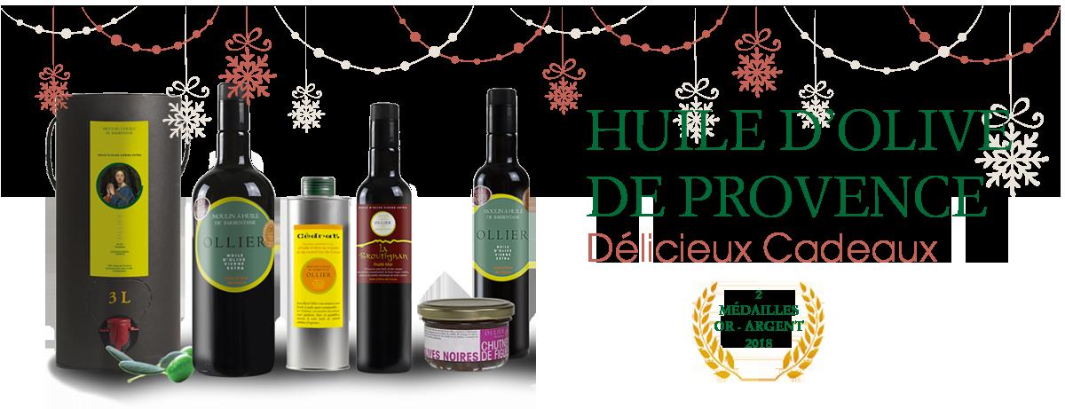 Huiles d'olive idées cadeaux fin d'année